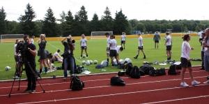 The Matildas tränar
