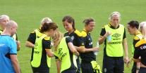 Lotta Schelin i fokus på svensk träning