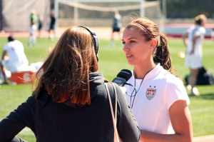 Alex Morgan intervjuas