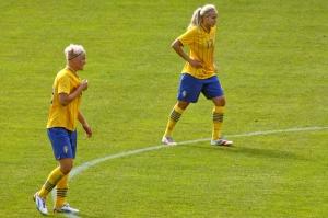 Nilla Fischer och Lisa Dahlkvist