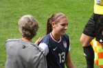 Pia Sundhage tackar Alex Morgan