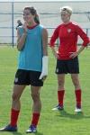 Tobin Heath och Megan Rapinoe