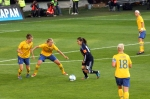 Homare Sawa utmanar Emma Berglund och Linda Sembrant