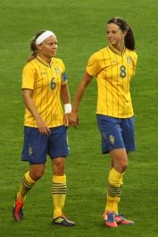 Sara Thunebro och Lotta Schelin