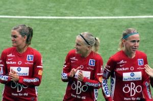 Linda Fransson, Sanna Talonen och Elin Magnusson.
