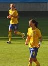 Kosovare Asllani och Lotta Schelin