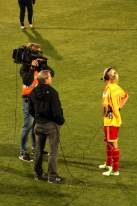 Caroline Seger intervjuas