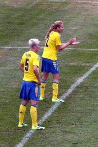 Nilla Fischer och Charlotte Rohlin.