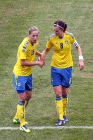 Emmelie Konradsson och Lotta Schelin