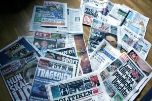 Tyska och danska tidningar