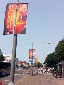 EM-reklam på Avenyn.