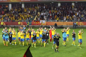 Sverige tackar publiken