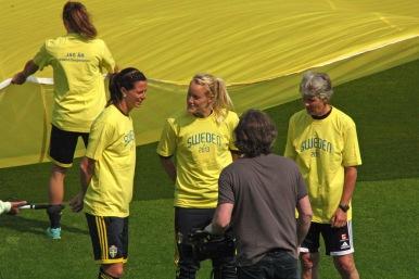 Inspelning av reklamvideo för Camp Sweden
