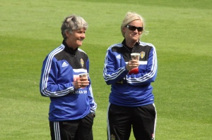 Pia Sundhage och Lilie Persson