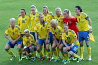 Sveriges startelva mot Italien