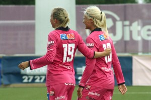 Kristine Minde och Pernille Harder