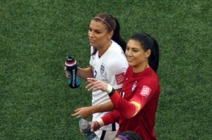 Alex Morgan och Hope Solo