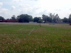 Fotbollsplan i västra Winnipeg