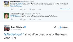 Twitterskämt från USA:s herrlandslag