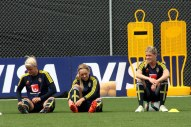 Nilla Fischer, Elin Rubensson och Olivia Schough