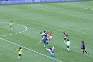Kamerun firar segern.