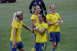 Olivia Schough, Magdalena Eriksson, Kosovare Asllani och Emma Berglund
