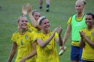 Magdalena Eriksson, Emma Berglund, Olivia Schough, Sofia Jakobsson och Emilia Appelqvist