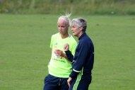 Caroline Seger och Pia Sundhage