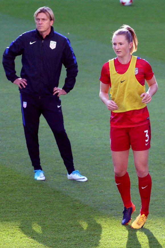 Tony Gustavsson och Samantha Mewis