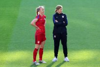 Becky Sauerbrunn och Jill Ellis