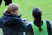 Jill Ellis instruerar Christen Press