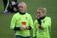 Stina Blackstenius och Fanny Andersson