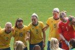 Jonna Andersson, Jessica Samuelsson, Linda Sembrant, Nilla Fischer och Hedvig Lindahl.