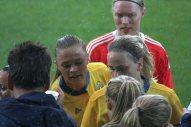 Fridolina Rolfö, Lisa Dahlkvist och Hedvig Lindahl.