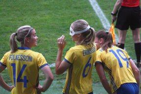 Hanna Folkesson, Magdalena Eriksson och Pauline Hammarlund.