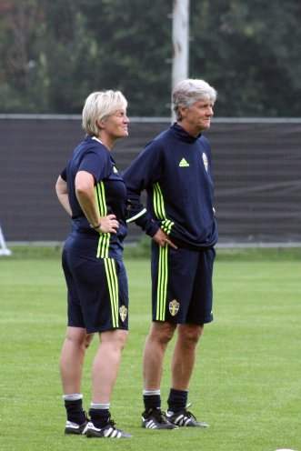 Lilie Persson och Pia Sundhage