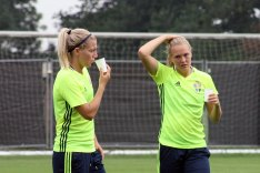 Linda Sembrant och Magdalena Eriksson