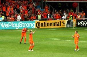 Orange segerjubel