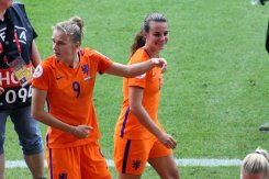 Vivianne Miedema och Renate Jansen.