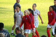Fara Williams, Alex Greenwood, Karen Carney, Lucy Bronze och Alex Scott.