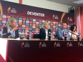 Elena Fomina, presskonferens