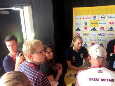 Magdalena Eriksson, presskonferens