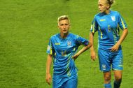 Lyubov Shmatko (14) och Veronika Andrukhiv (5)
