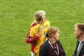 Magdalena Eriksson och Pernille Harder