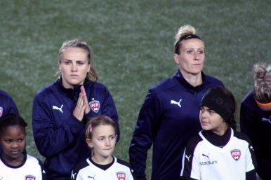 Fiona Brown och Anja Mittag
